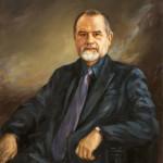 x. 50. W. Kolbusz, Portret G. Średzińskiego, burmistrza m. DZ w latach 1994-2002 oraz 2006-2010, olej,  45x60cm, 2005, wł.  G. Średzińskiego