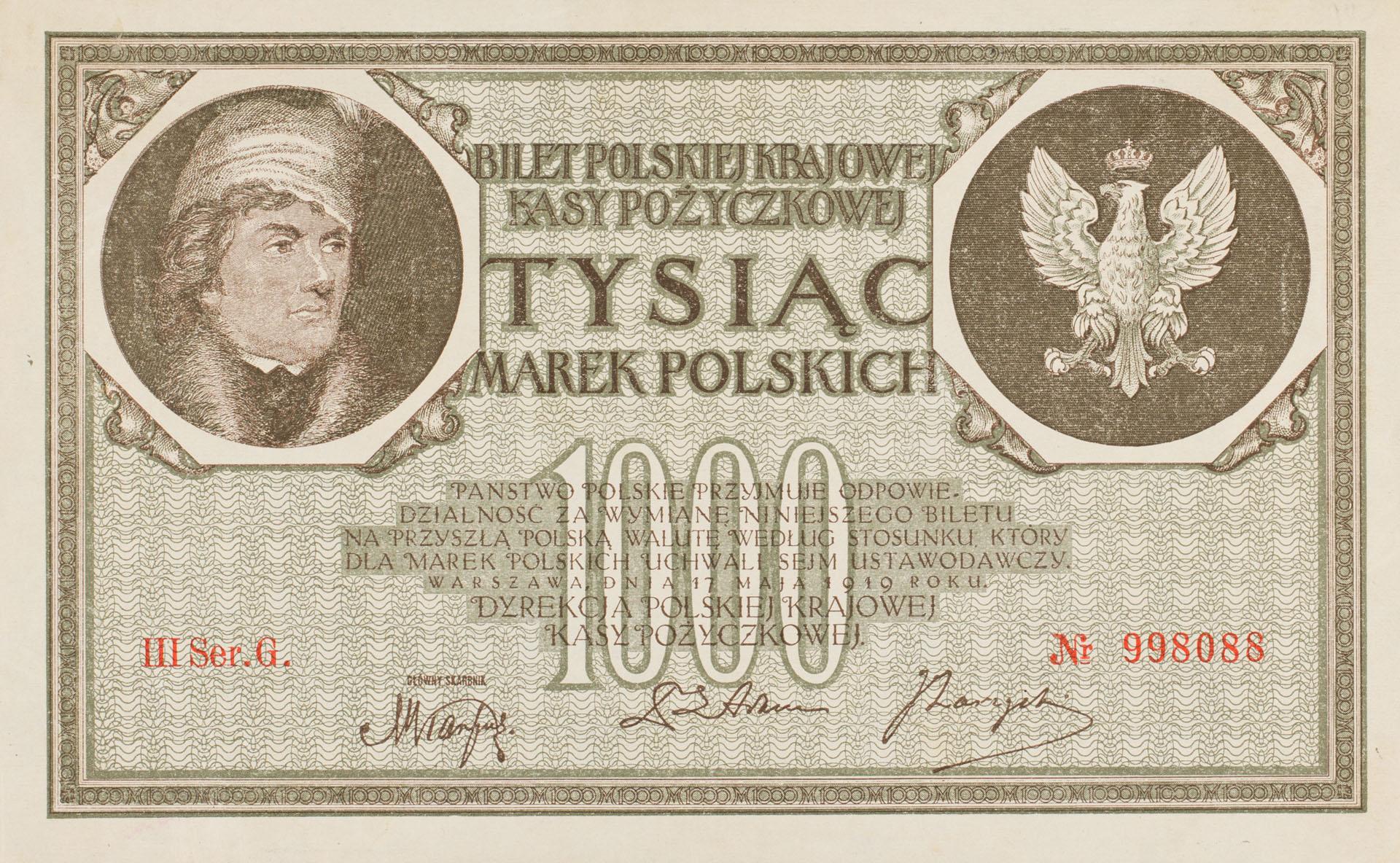 Banknot 1000 marek polskich
