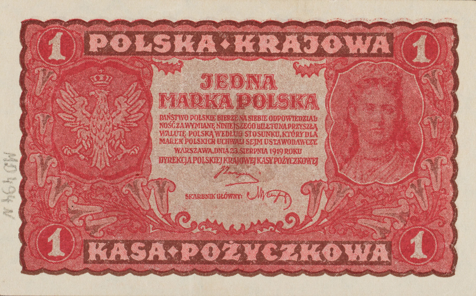 Banknot 1 marka polska