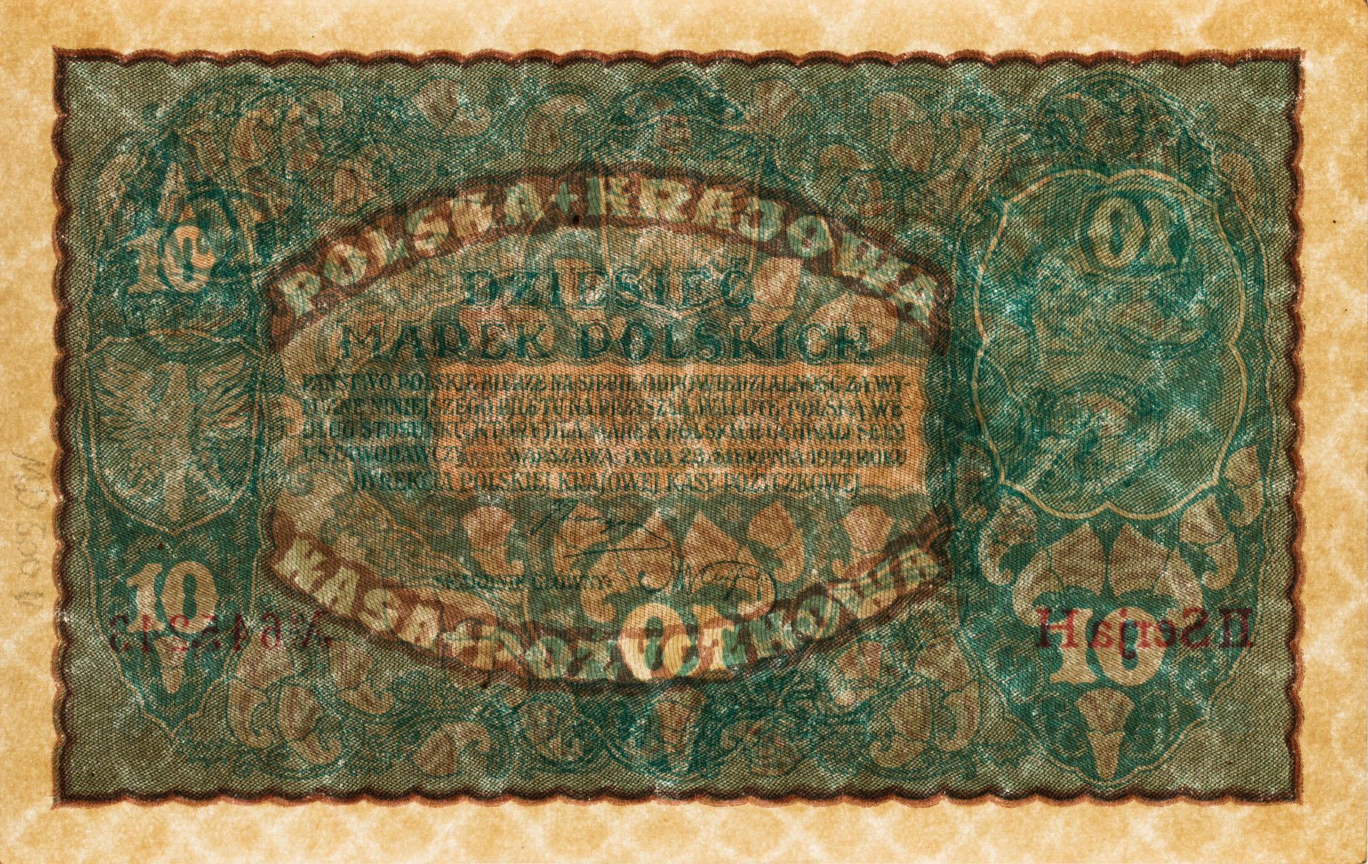 Banknot 10 marek polskich