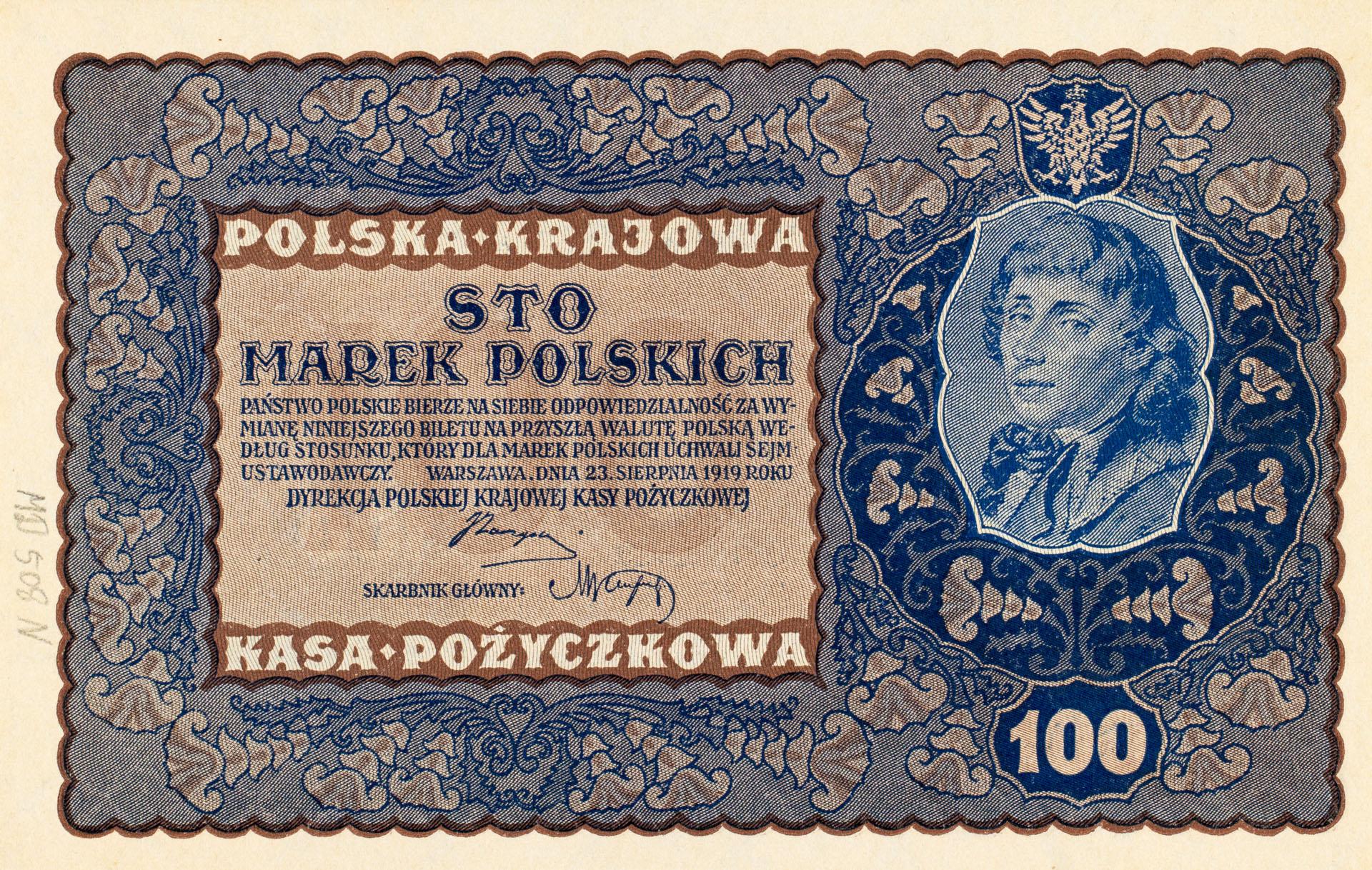 Banknot 100 marek polskich