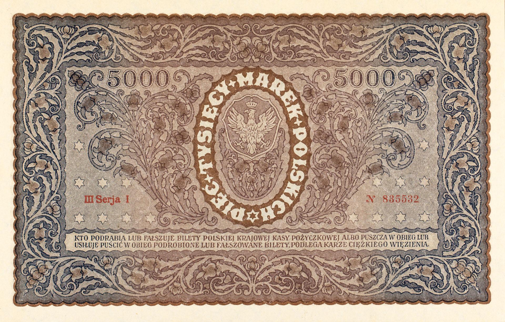 Banknot 5000 marek polskich