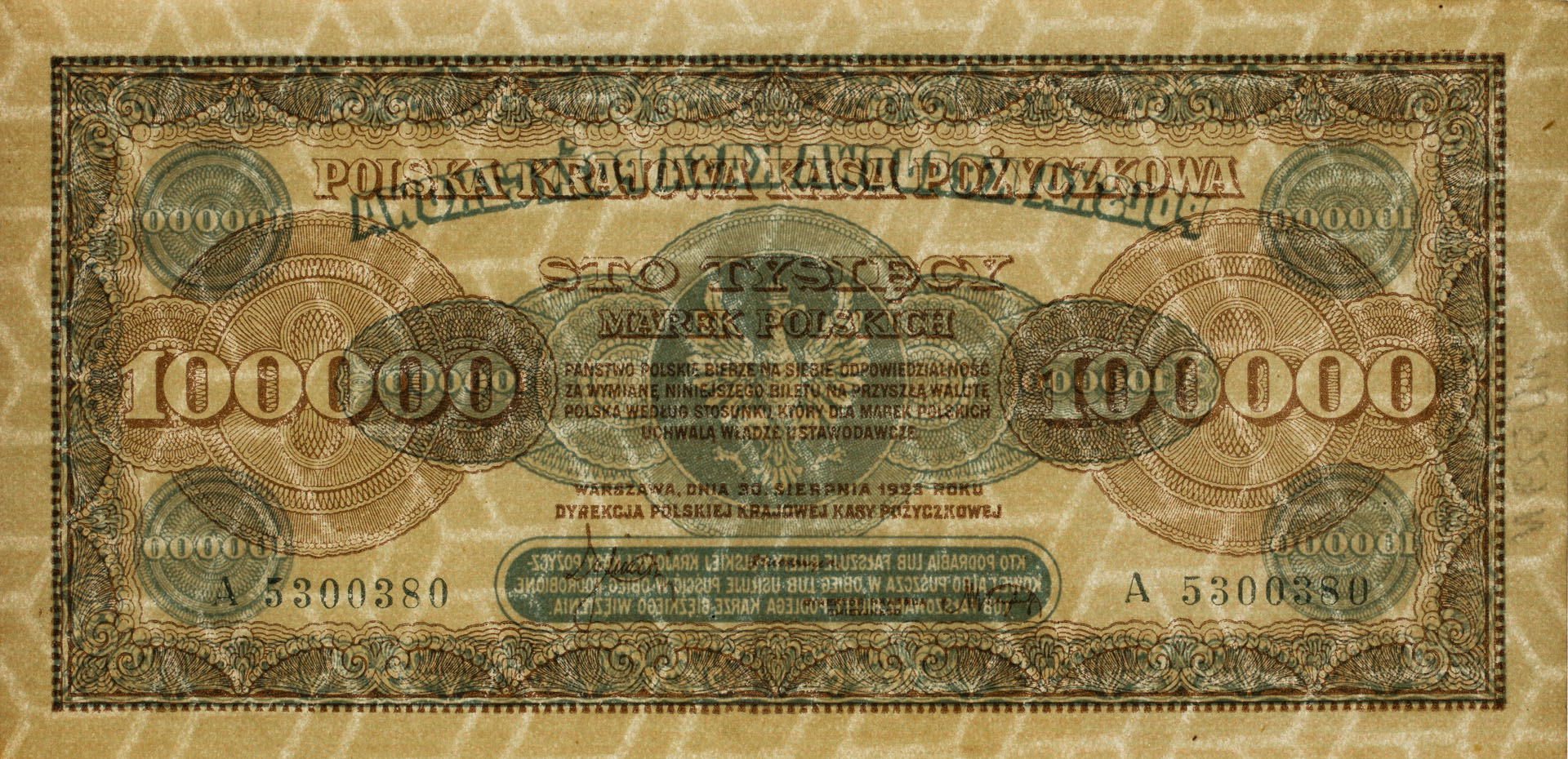 Banknot 100000 marek polskich