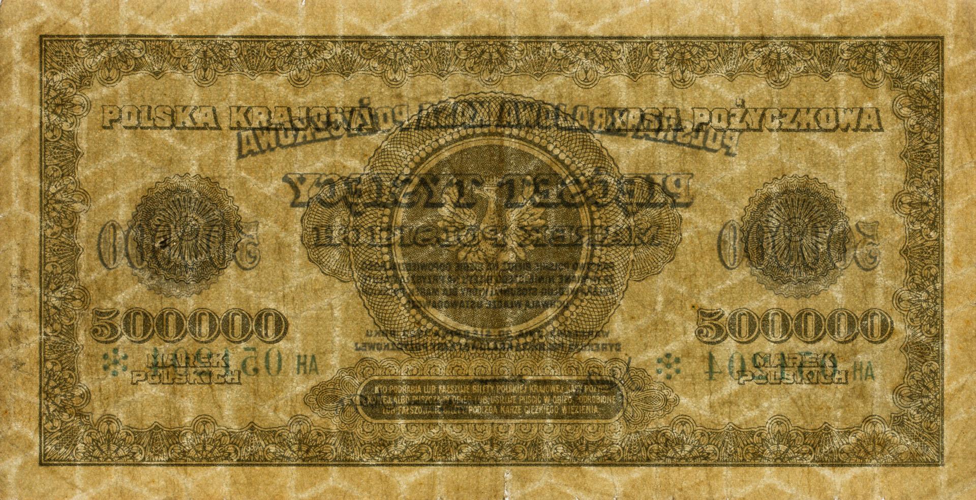 Banknot 500000 marek polskich