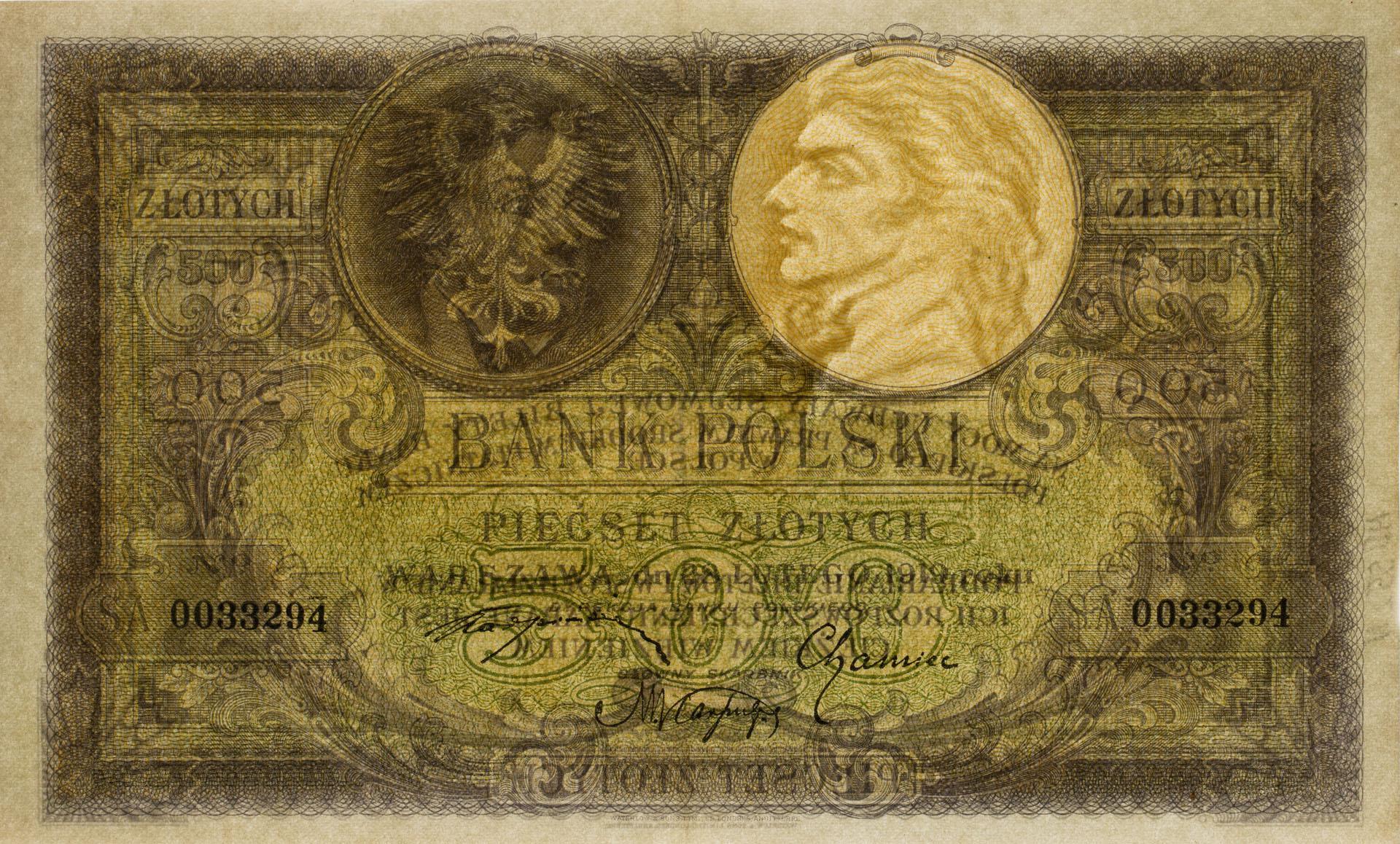 Banknot 500 złotych