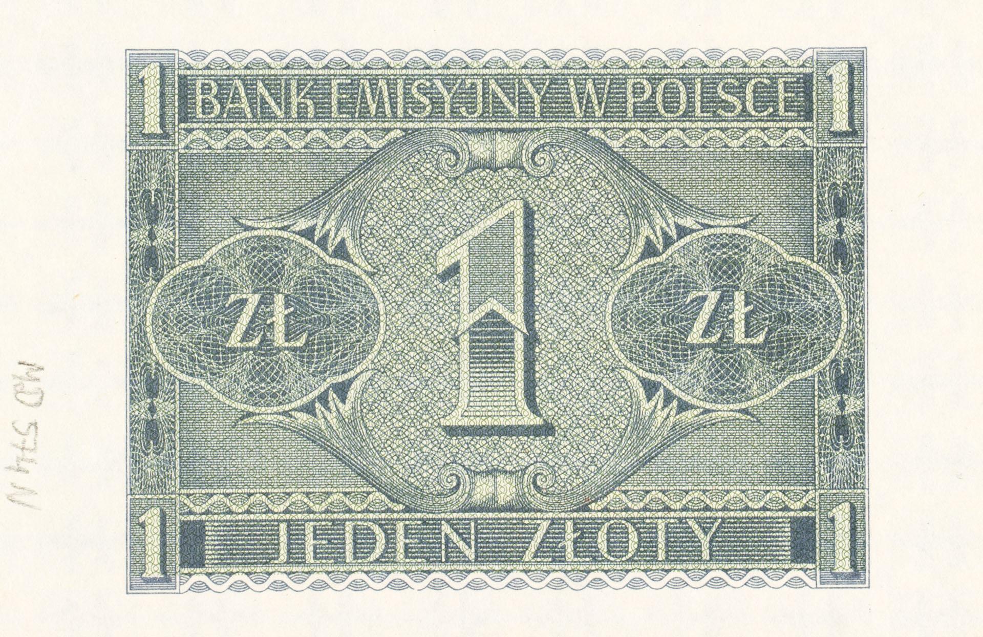 Banknot 1 złoty