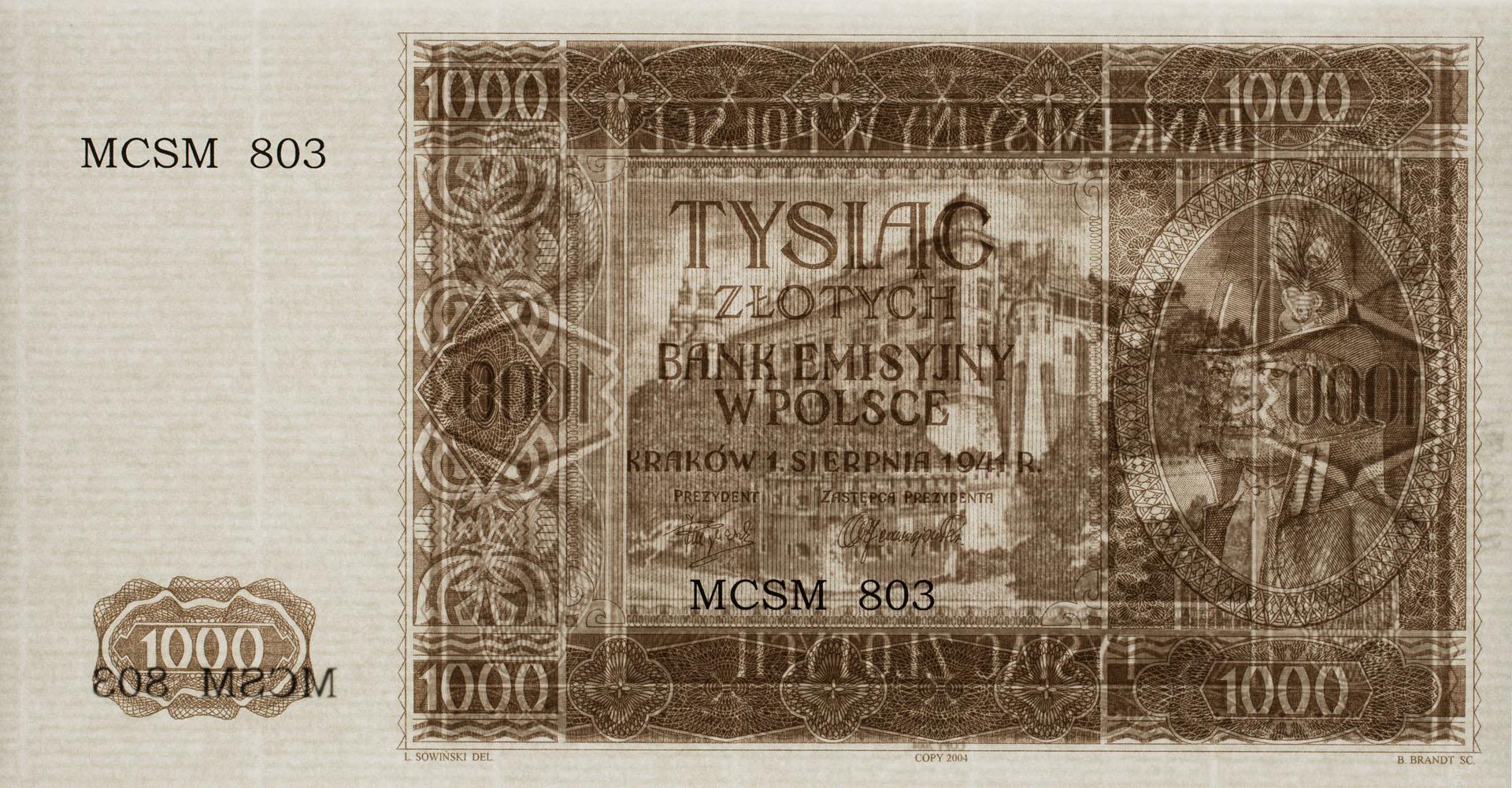 Banknot 1000 złotych